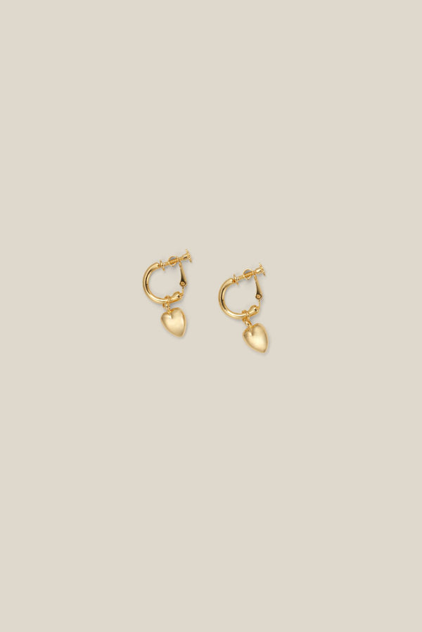 HEART CHARM GOLD (EARRING)