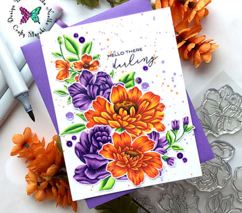 Gorgeous Fall Themed Floral Card