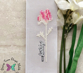Cross stitch floral cards