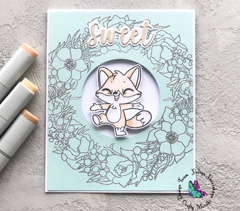 sweet fox card by Yuliya