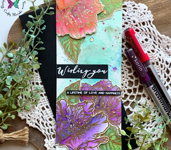 GORGEOUS floral wishes card with Natasha