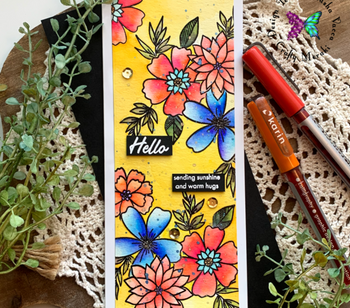 Gorgeous watercoloring Wild Flowers with Natasha