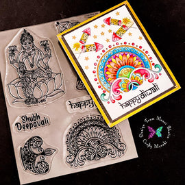 Crafty Meraki Happy Diwali Clear stamp set - Crafty Meraki