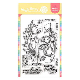 Waffle Flower Tulips Stamp Set - Crafty Meraki