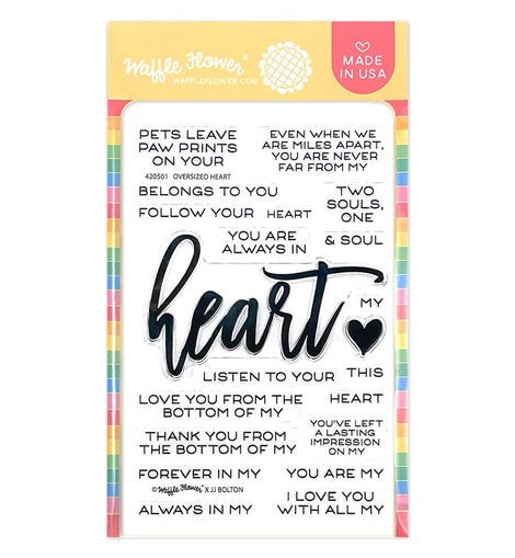 Waffle Flower Oversized Heart Stamp Set - Crafty Meraki