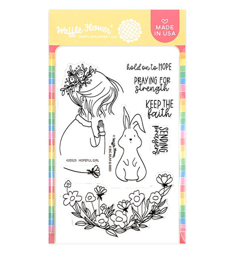 Waffle Flower Hopeful Girl Stamp Set - Crafty Meraki