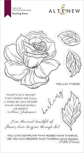 Altenew Darling Rose Stamp Set - Crafty Meraki