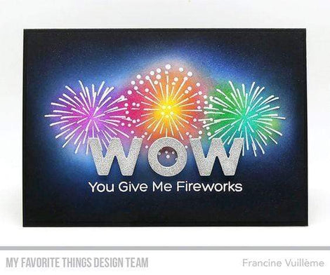 My Favorite Things Fireworks Stamp Set - Crafty Meraki
