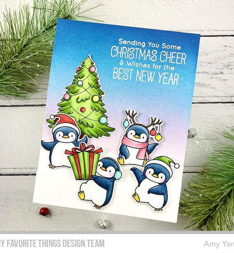 My Favorite Things BB Holiday Penguins Stamps - Crafty Meraki