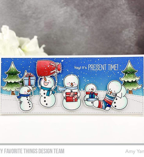 My Favorite Things Stitched Slimline Snow Drifts Die-namics - Crafty Meraki