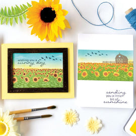 Hero Arts Sunflower Field HeroScape Stamps Set - Crafty Meraki