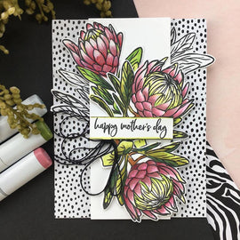 Hero Arts Protea Flowers Stamp Set - Crafty Meraki