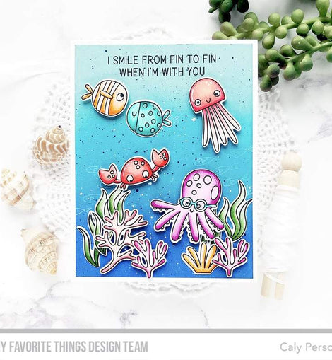My Favorite Things Best Fins Stamps Set - Crafty Meraki