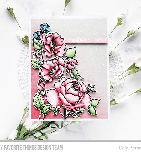 My Favorite Things Rose Garden Stamp Set - Crafty Meraki