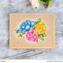 Studio Katia Spring Bouquet Stamp Set - Crafty Meraki