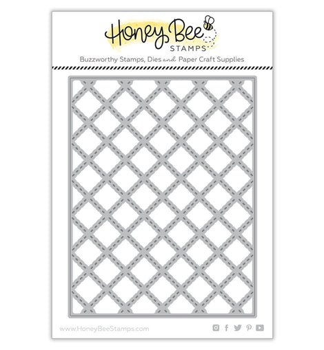 Honey Bee Stamps Quilted A2 Cover Plate | Honey Cuts - Crafty Meraki