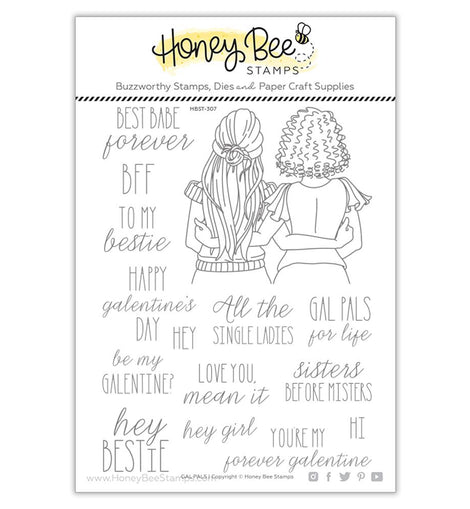 Honey Bee Stamps Gal Pals | 6x8 Stamp Set - Crafty Meraki