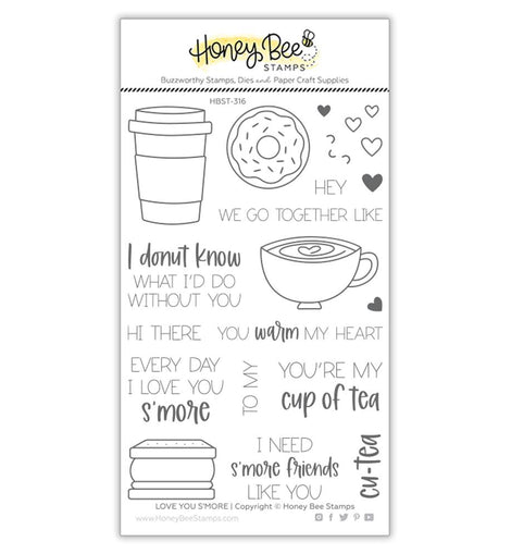 Honey Bee Stamps Love You S'more | 4x6 Stamp Set - Crafty Meraki
