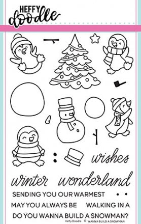 Heffy Doodle Wanna Build A Snowman Stamps - Crafty Meraki