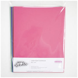 "Heffy Doodle Multipack 8.5"" x 11"" coloured cardstock (2 sheets of 12 colours) - Crafty Meraki"