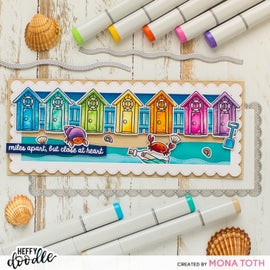 Heffy Doodle Close At Heart Sentiment Stamps - Crafty Meraki