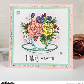 Studio Katia A Cup Of Thanks Stamp way - Crafty Meraki