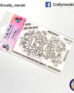 Crafty Meraki Floral Hugs stamp - Crafty Meraki
