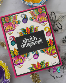 Crafty Meraki Diwali Greetings Clear stamp set - Crafty Meraki