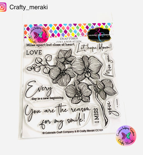 Crafty Meraki Colorado Craft Co Collaboration - CC101 CCC& CM Orchids - Crafty Meraki
