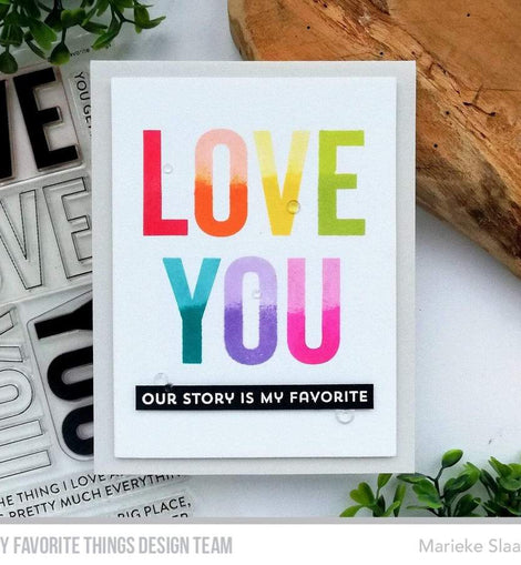 My Favorite Things Love You Big Time Stamp set - Crafty Meraki