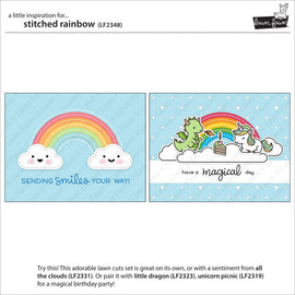 Lawn Fawn stitched rainbow - Crafty Meraki