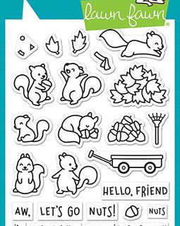 Lawn Fawn let's go nuts stamp set - Crafty Meraki