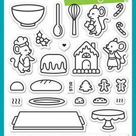 Lawn Fawn A creature was stirring  Stamp set - Crafty Meraki