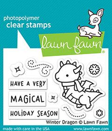 Lawn Fawn Winter Dragon Stamp set - Crafty Meraki
