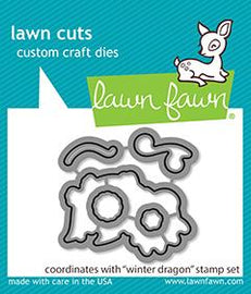 Lawn Fawn Winter Dragon Lawn Cuts - Crafty Meraki