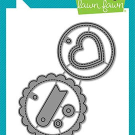 Lawn Fawn scalloped circle gift tag - Crafty Meraki