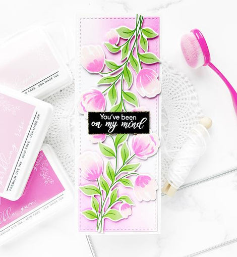 Pinkfresh Studio Slim Stitched Rectangle Die Set - Crafty Meraki