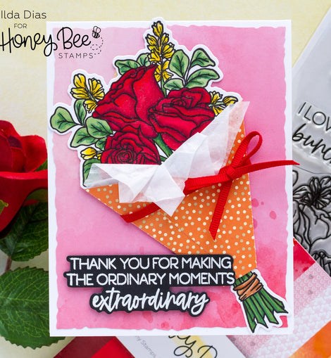 Honey Bee Stamps Love You Bunches | Honey Cuts - Crafty Meraki