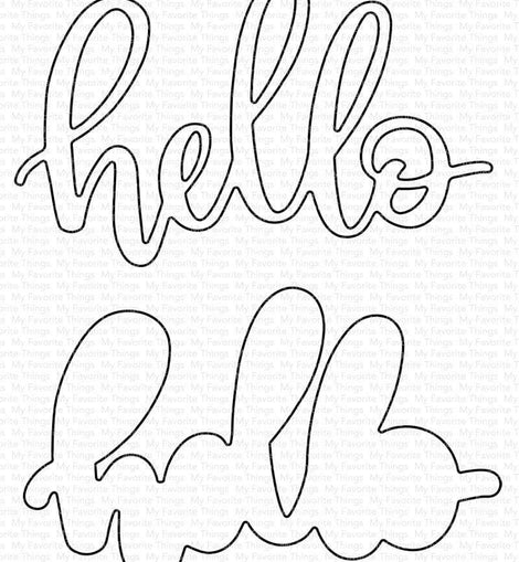 My Favorite Things Little Hello Die-namics - Crafty Meraki