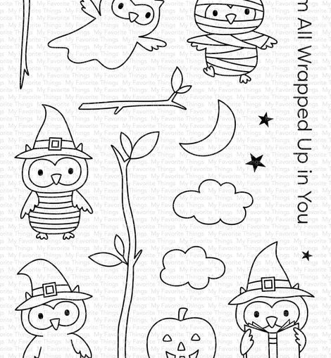 My Favorite Things Halloween Hoo Stamp Set - Crafty Meraki