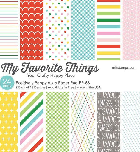 My Favorite Things Positively Peppy Paper Pad - Crafty Meraki