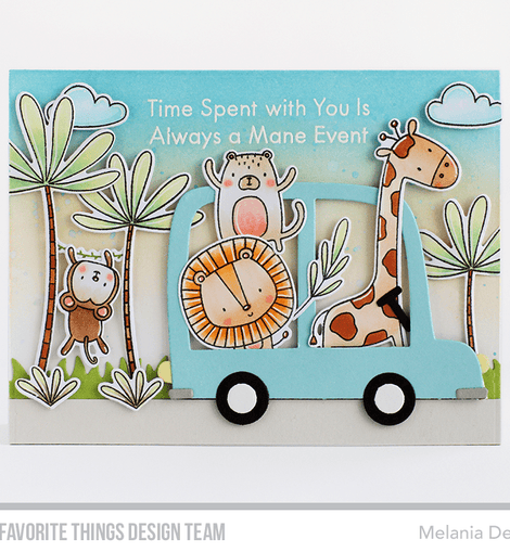 My Favorite Things Sweet Safari Stamp set - Crafty Meraki