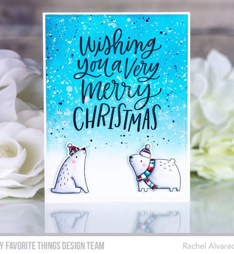 My Favorite Things Wishing You a Very Merry Christmas Stamps - Crafty Meraki