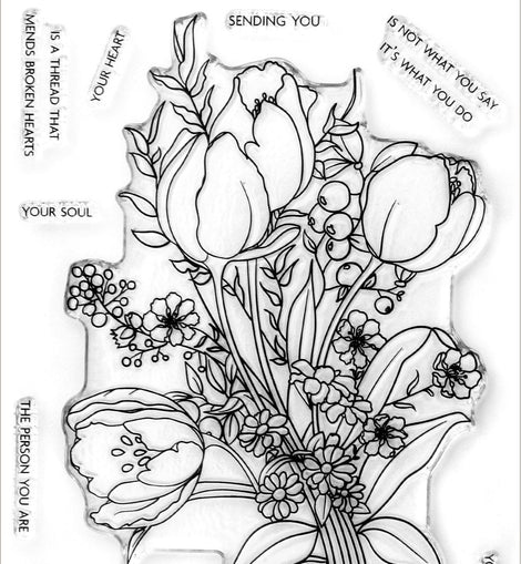 Altnew Paint-A-Flower: Tulips Outline Stamp Set - Crafty Meraki