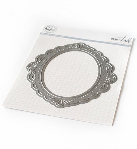 Pink Fresh Studio Essentials: Ornate Oval Frame Die - Crafty Meraki