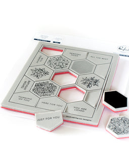 Pinkfresh Studio Pop Out: Hexagons Cling Stamp Set - Crafty Meraki