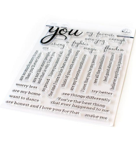 Pinkfresh Studio Simply Sentiments - You Stamp Set - Crafty Meraki