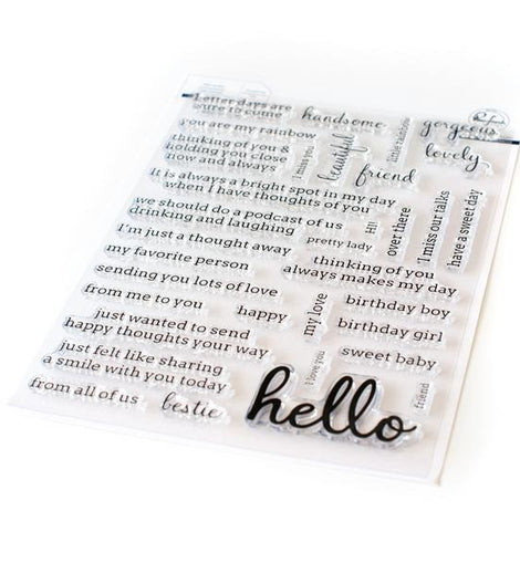 Pinkfresh Studio Simply Sentiments - Hello Stamp Set - Crafty Meraki