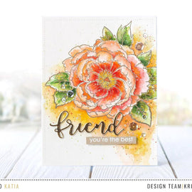 Studio Katia Japanese Peony Stamp Set - Crafty Meraki