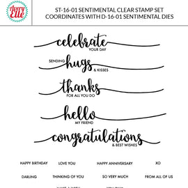 Avery Elle Sentimental Clear Stamps - Crafty Meraki